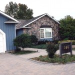 split random fieldstone house front