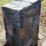 squared split fieldstone memorial