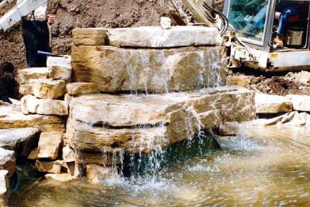 waterfall installing