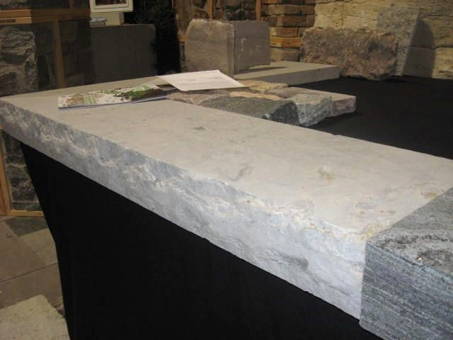"Weatheredge Limestone ""L"" Shaped Coping"