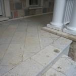 weatheredge limestone bush hammered square cut flag steps