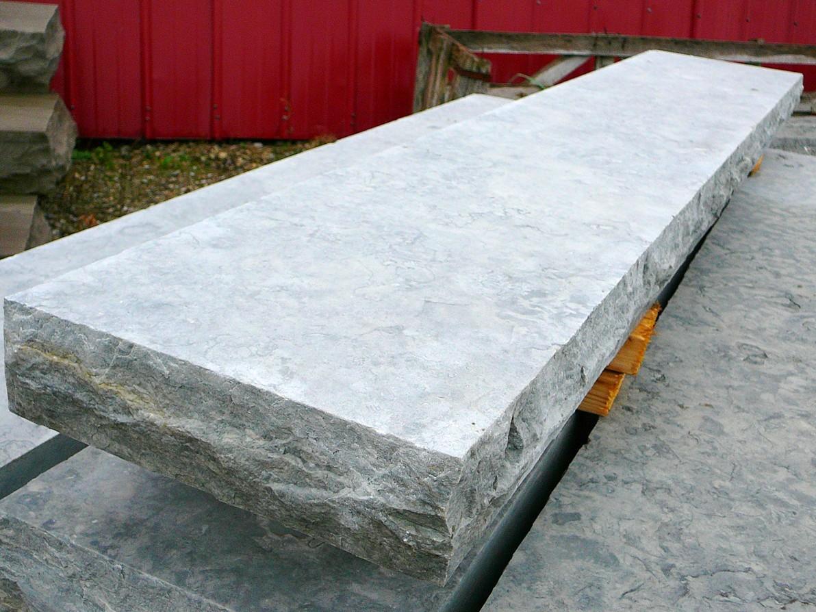 weatheredge limestone sawn and textured sill closeup