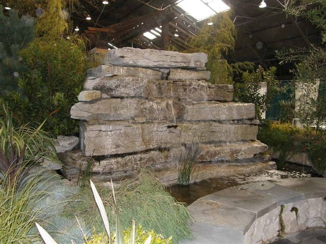 Weatheredge Limestone Waterfall in California