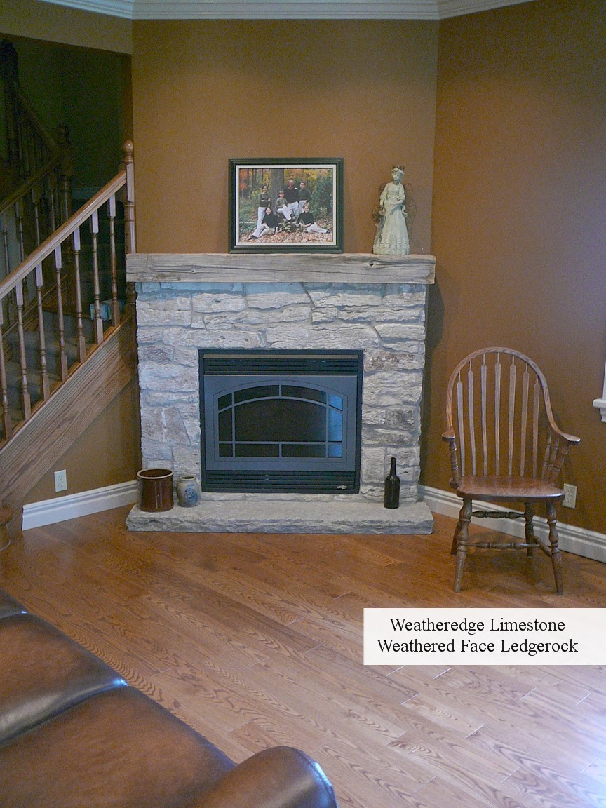 weatheredge weathered ledgerock fireplace