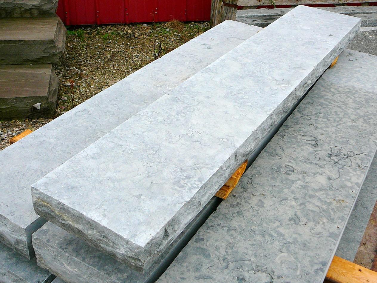 weatheregde limestone sawn and textured top sill